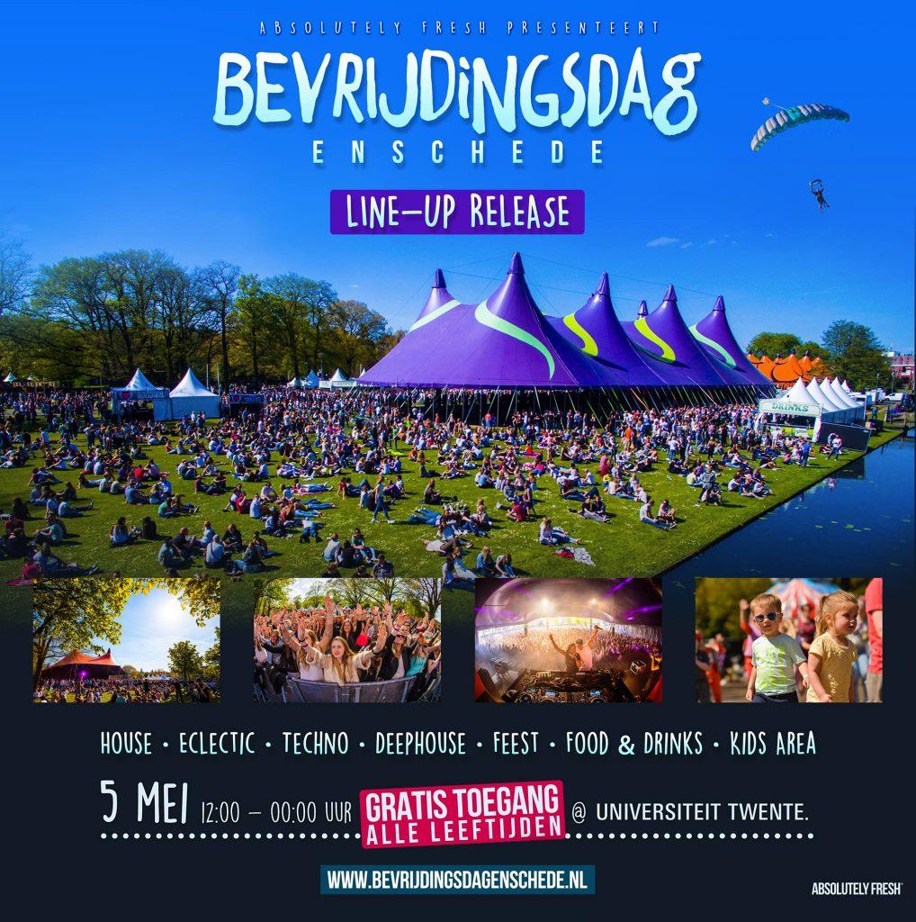 Line up release Bevrijdingsdag Enschede 2017