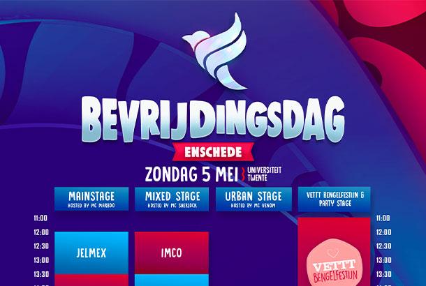 Timetable + Plattegrond Bevrijdingsdag Enschede 2019!