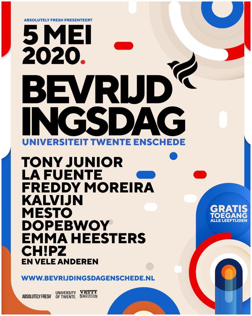 Line up Bevrijdingsdag Enschede 2020